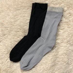 Set of 2 ~ Nylon Socks ~ Ladies Size One Fits Most